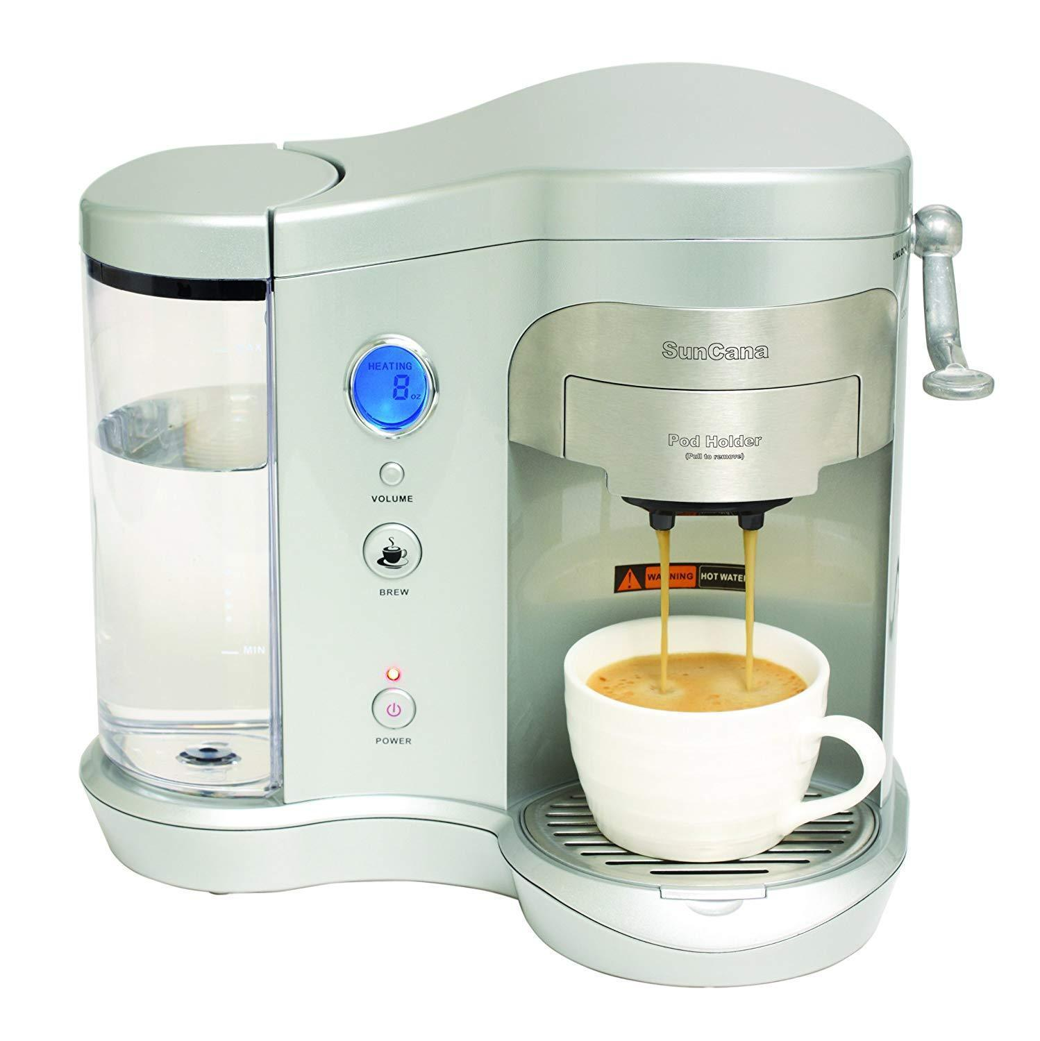Single Serve Pod Brewer - Coffee Machine - Black