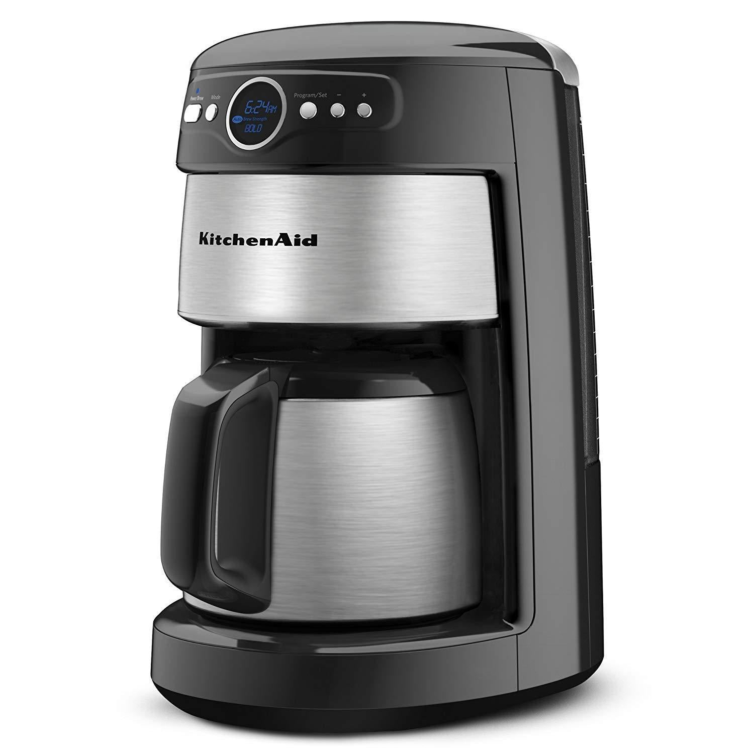 KitchenAid 12-Cup Thermal Carafe Coffee Maker, Countour Silver