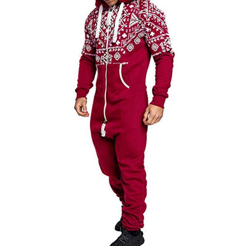 Long Sleeve Zippered  Men's Onesies