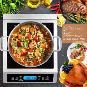 Professional Portable Induction Cooktop,1800 Watts