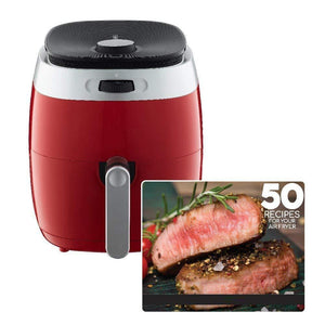 Air Fryer With Rapid Air Technology,Red
