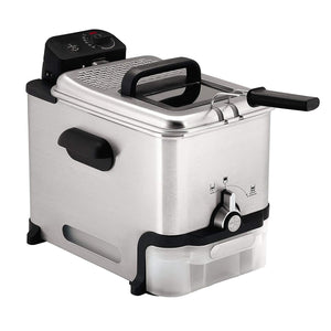 Oil Fryer With Oil Filtration,Easy To Clean