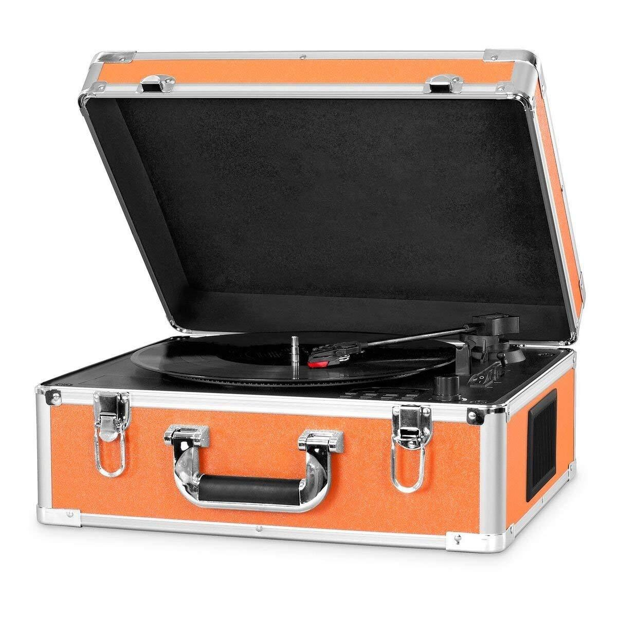 3-Speed Bluetooth Suitcase Turntable With CD Player