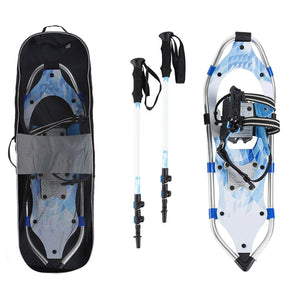 8 x 25 Inch Women's Snowshoe Kit with Poles and Bag