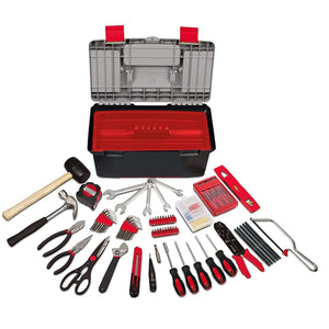Household Tool Kit with Large Heavy Duty Tool Box