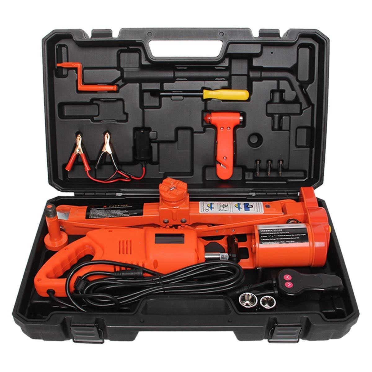 Electric Scissor Jack 2-in-1 Car Repair Tool Kit