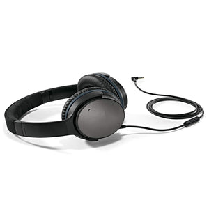 Noise Cancelling Headphones - Black (wired, 3.5mm)