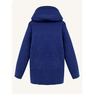 Casual Women Solid Color Zipper Hooded Cotton Coats