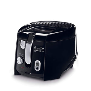 Deep Fryer With Tilted Rotating Basket,Black/Silver