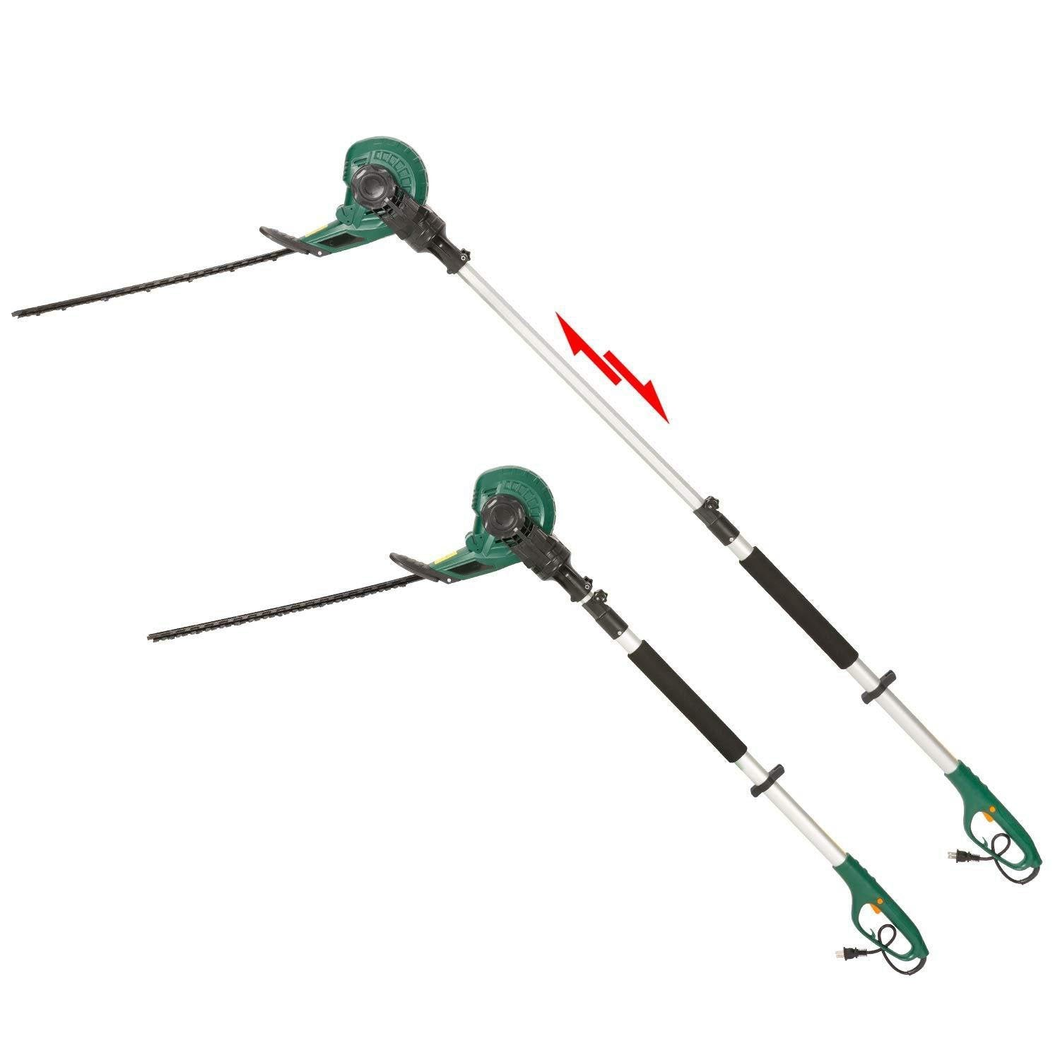 2 in 1 Multi-Angle Cutting Telescopic Electric Hedge Trimmer