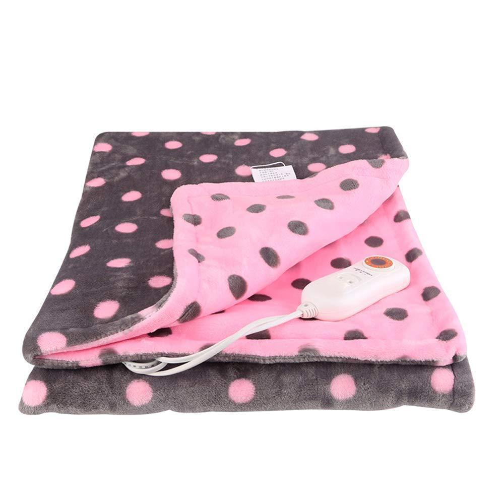 Pink Detachable Electric Heating Blanket