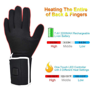 Rechargeable Motorcycle Ski Snow Warm Gloves