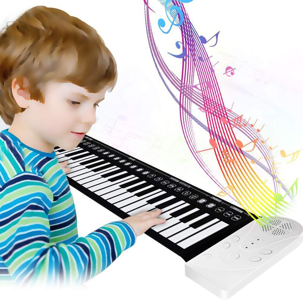 Flexible Electronic Hand Roll Piano Built-in Speaker