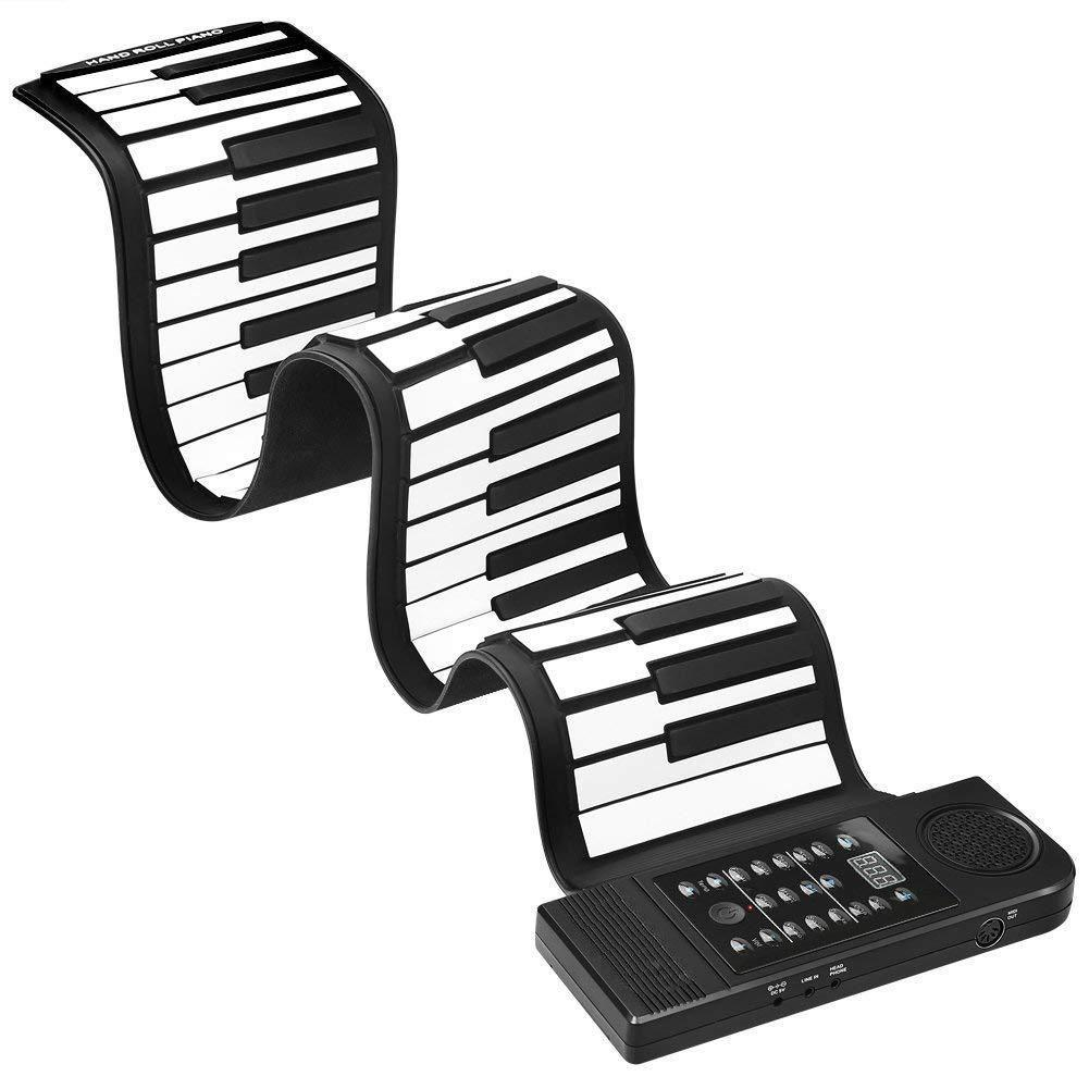 Portable 61 Keys Roll-Up Flexible Electronic Piano