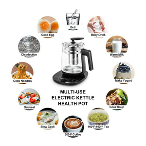 Multi-Use Electric Kettle Includes Filter