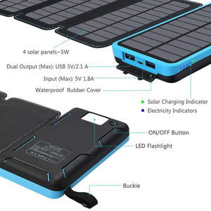 Waterproof Portable Solar Power Bank