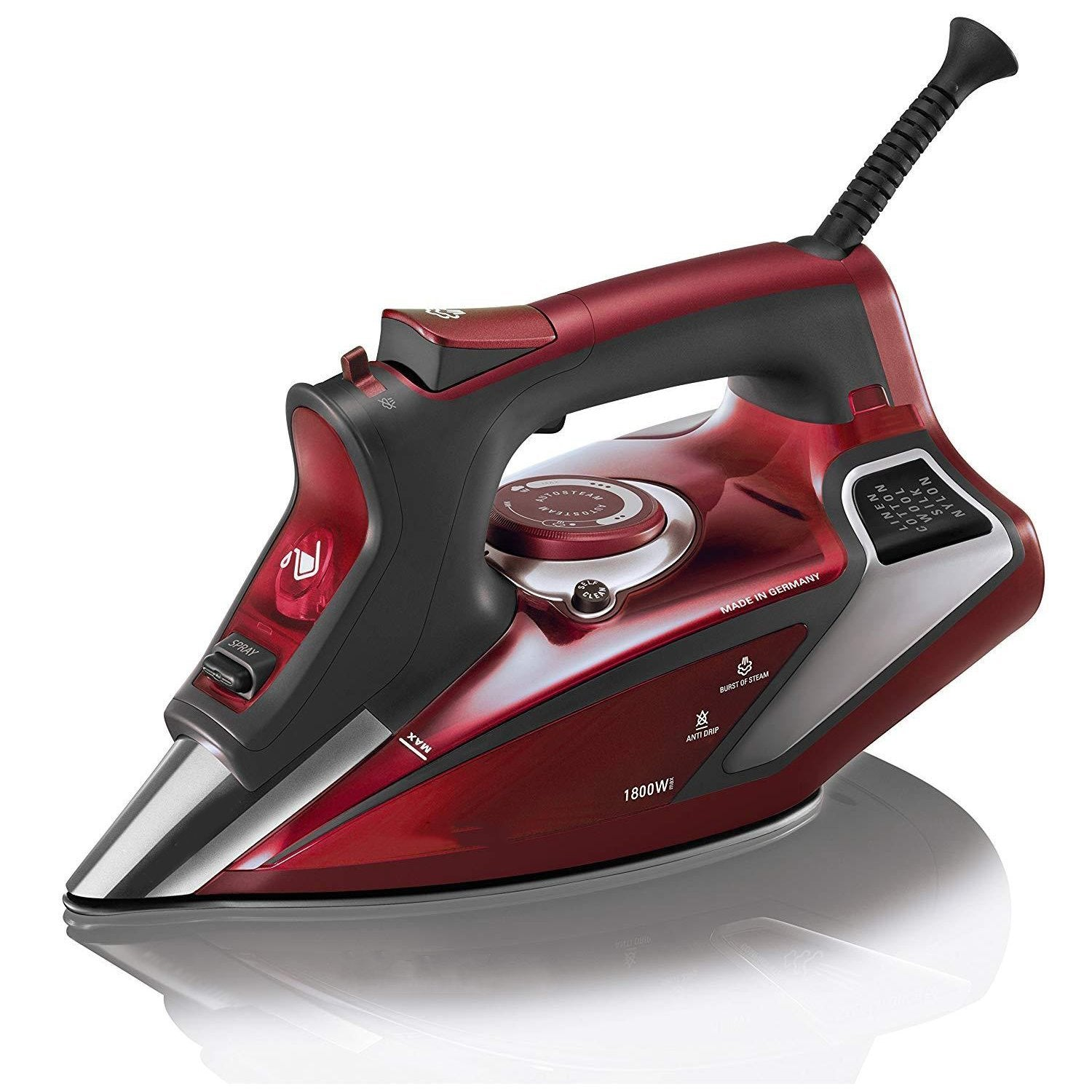 1800-Watt Professional  LED Display Steam Iron