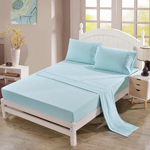 4pcs Embroidered Bedding Suit Coverlet Bedspread