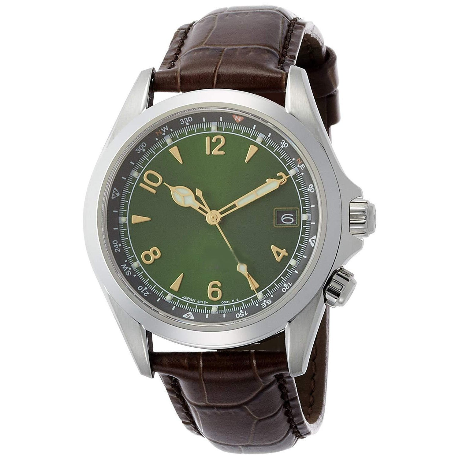 Automatic Stainless Steel and Leather Casual Watch