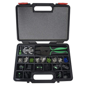 Interchangeable Ratcheting Crimping Tool & Accessory Set