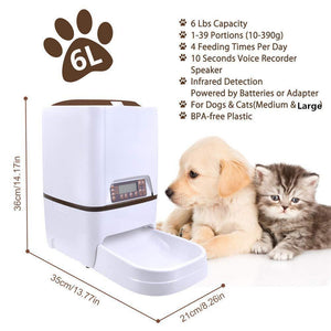 3L Pet Food Dispenser Feeder