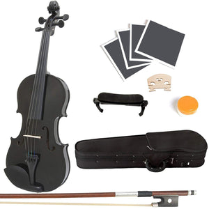 Metallic Black Varnish Violin(Full Size)