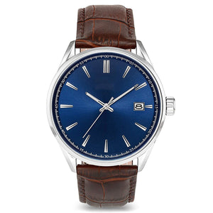 Men's Watch With Top Italian Leather Watch Band