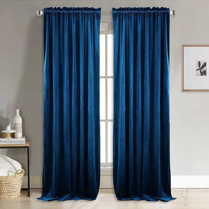 Home Decor Blackout Velvet Curtains