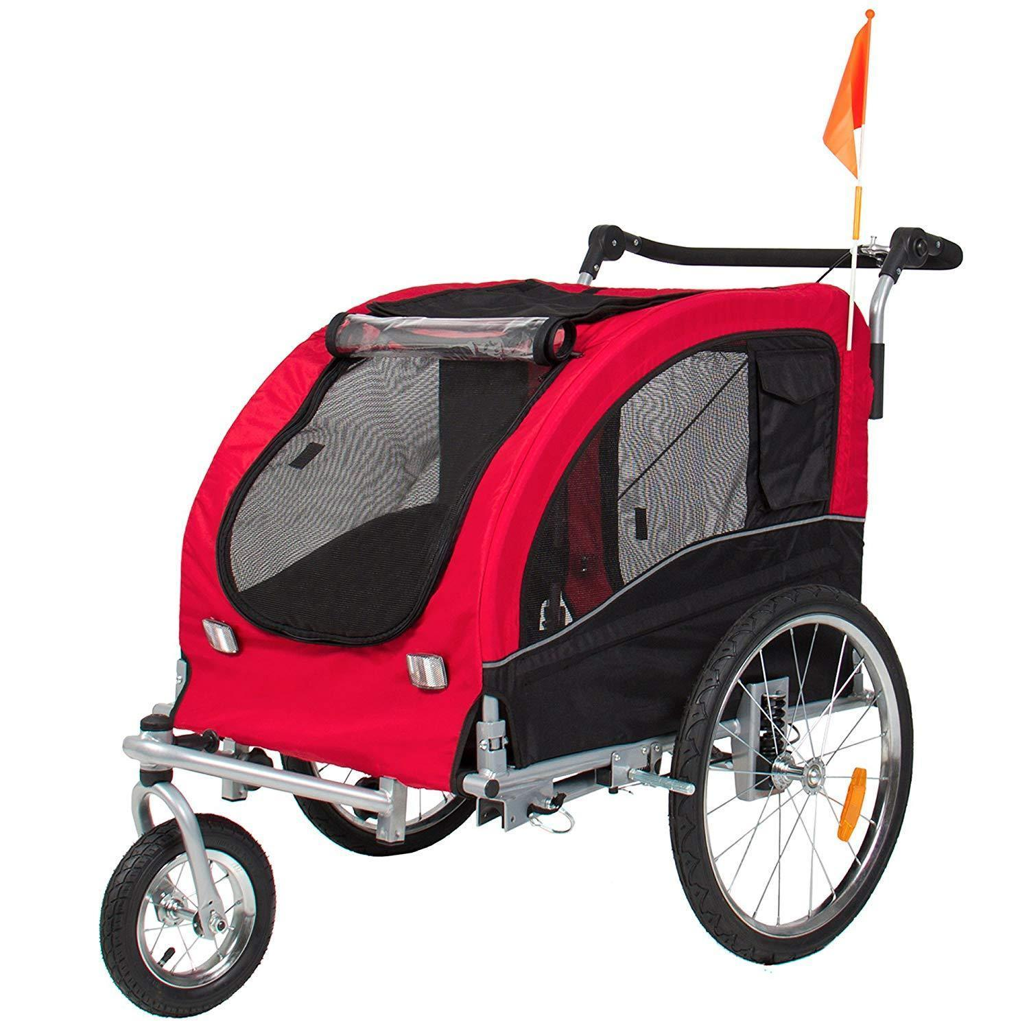 2-in-1 Lightweight Pet Stroller - Red