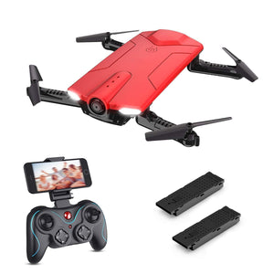Foldable Drone With Portable Carrying Case,Red