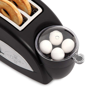 Wide Slot Toaster, 2-Slice, Black