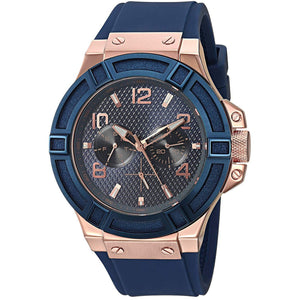 Men's Rose Gold Stainless Steel Silicone Casual Watch