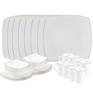 White Dinnerware Set Break Resistant- Freeze Resistant