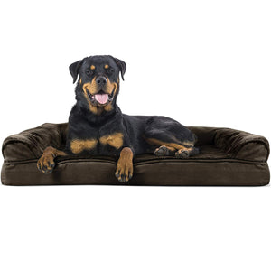 Plush Sofa-Style Pet Bed for Dogs & Cats