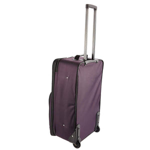 Purple One Size Luggage 4 Piece Set