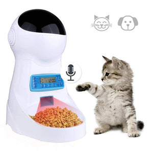 Pet Feeder with Voice Recorder Timer