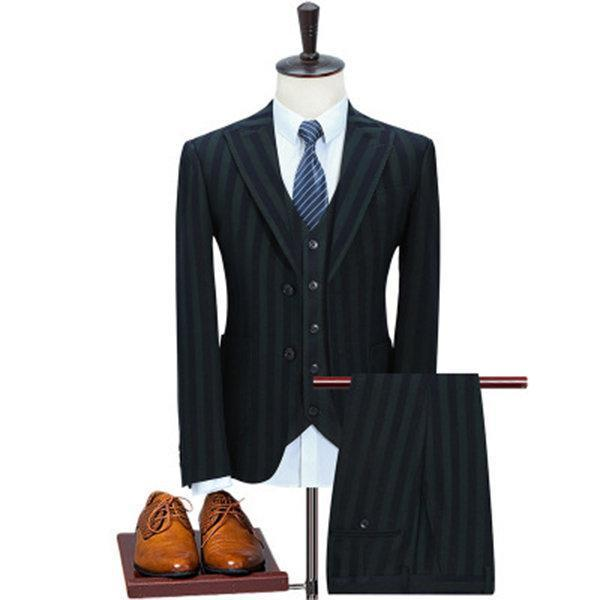 Stripes Slim Three Suits