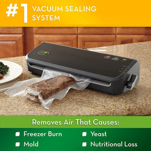 Vacuum Sealer Machine with Starter Bags,Black