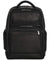 Leather Dual Compartment 15.6 Laptop Backpack,Black