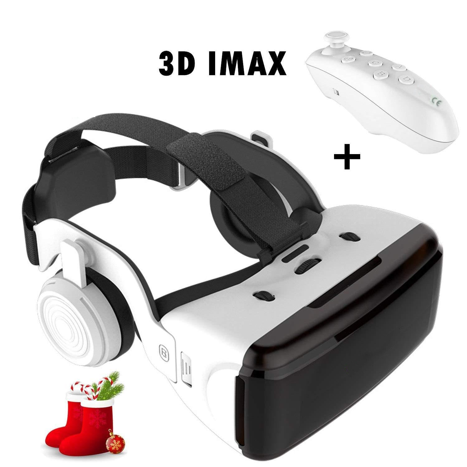 3D White Virtual Reality Glasses
