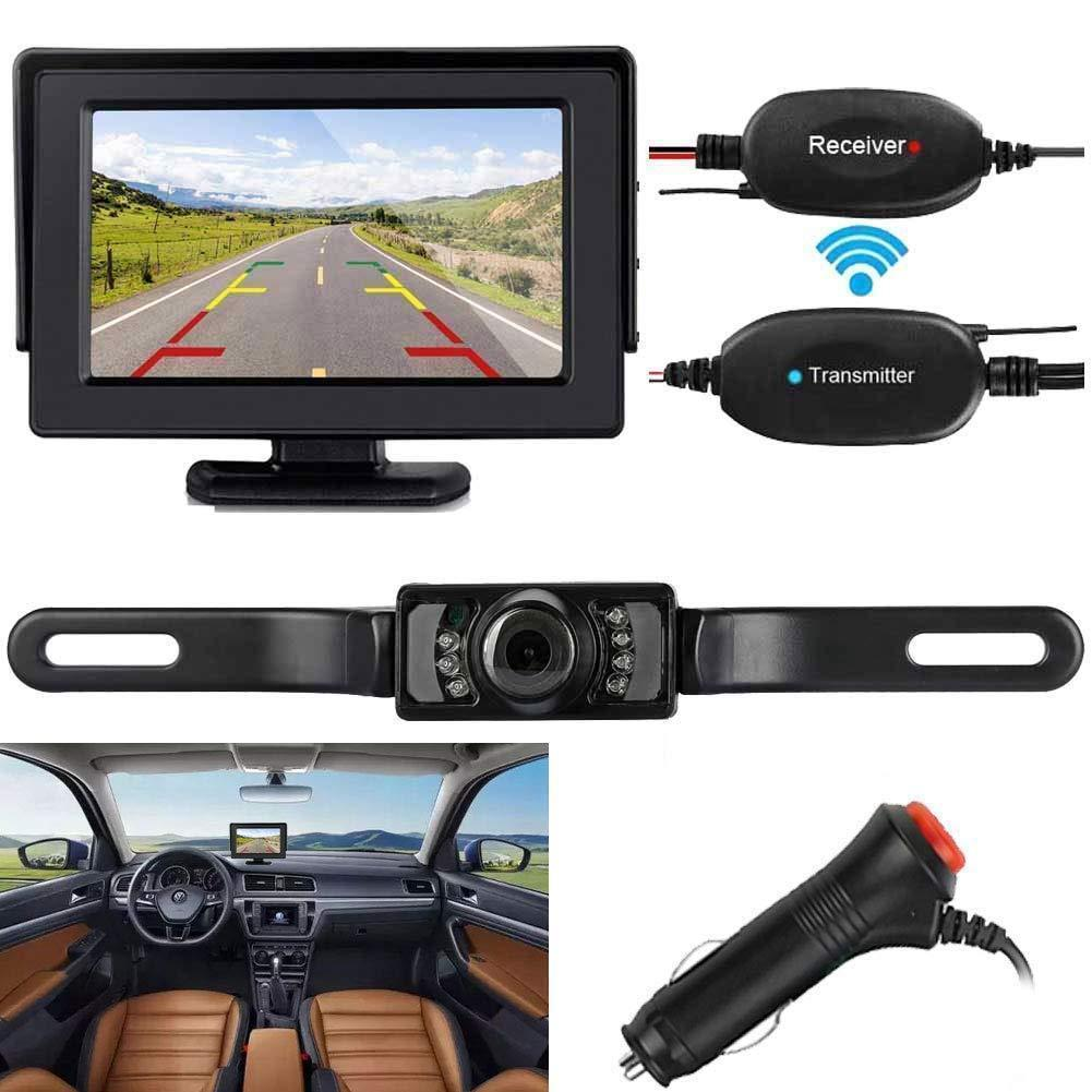 Backup Camera and Monitor Kit with Guide lines