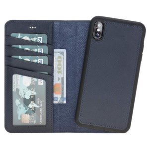 Shock Absorption Detachable Leather Wallet Case