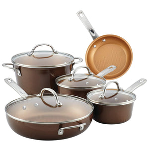 Porcelain Enamel Nonstick Cookware Set,Large