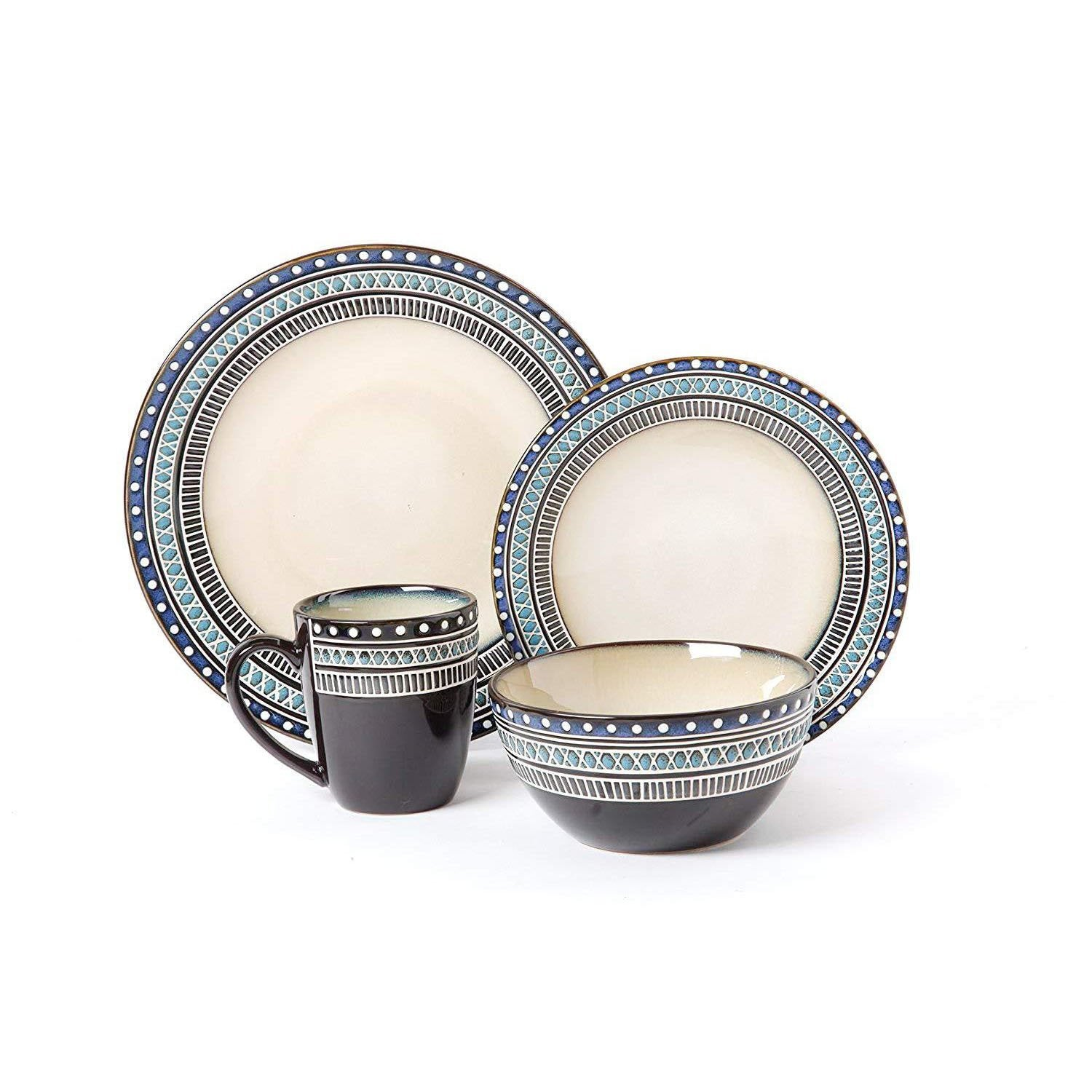 Blue & Beige Home Kitchen Everyday Dishware