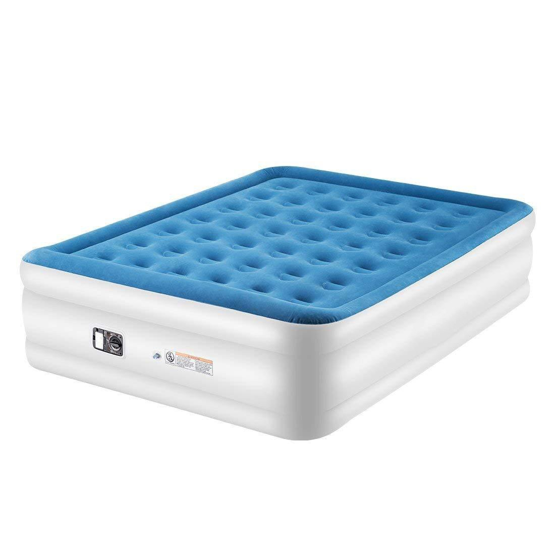 Blue Air Mattress,80 x 60 x 22 Inches