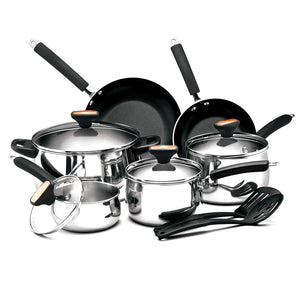 Stainless Steel 12-Piece Nonstick Cookware Set