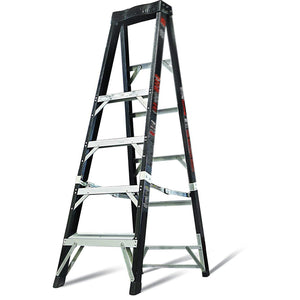 Safe Ladder With Unique Face-Forward Top Cap