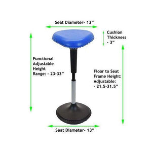 Adjustable Height Active Sitting Balance Perching Chair