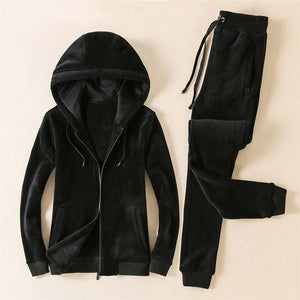 Thickened Warm Hooded Men's Sports Suit