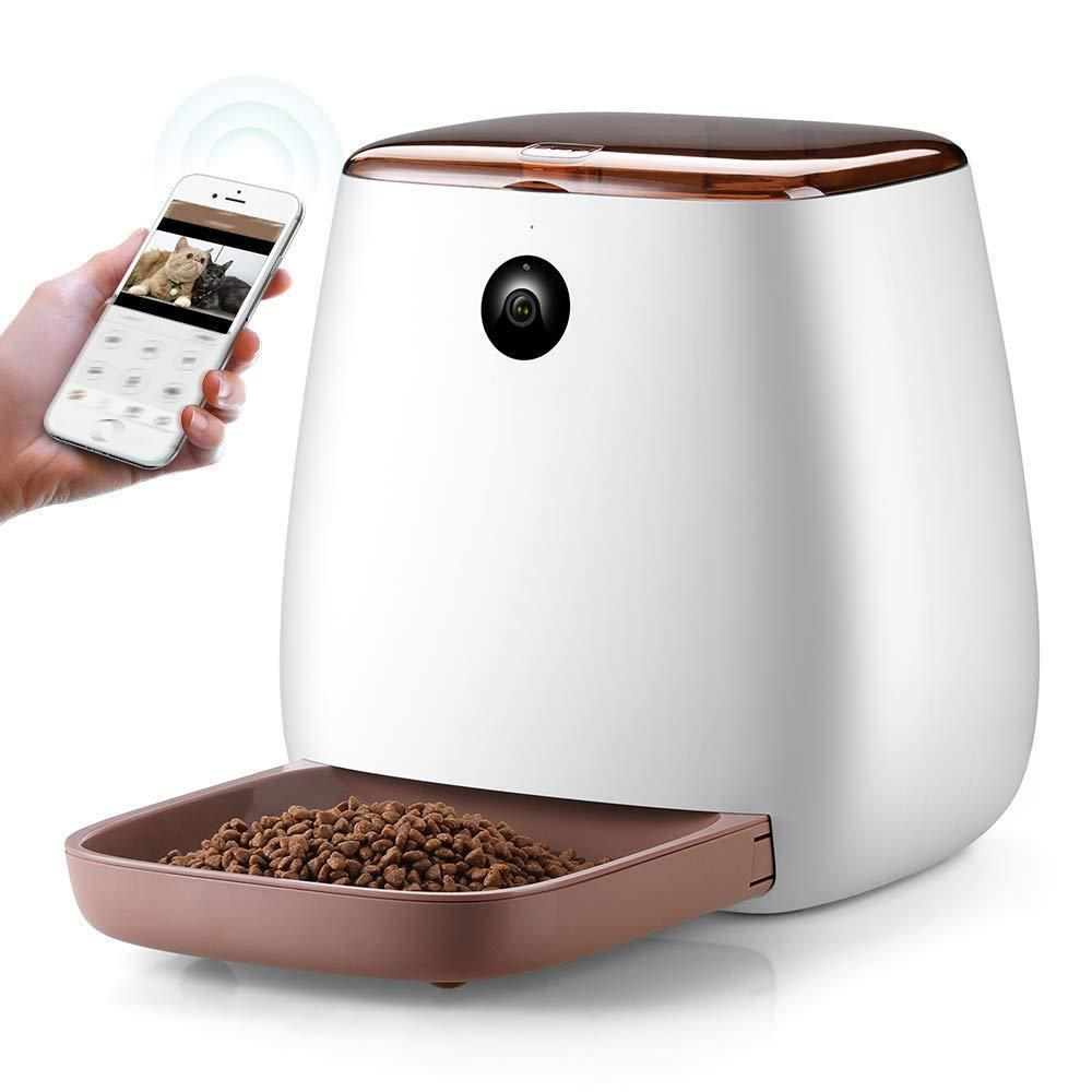 Pet Food Dispenser With Voice Recording